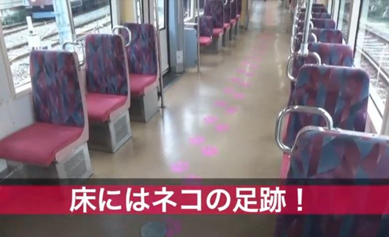 幸運の招き猫電車